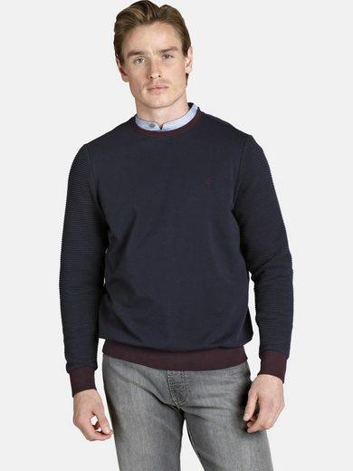 Charles Colby Sweatshirt »DUKE IDRIS« mit strukturierten Ärmeln
