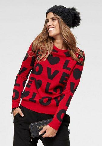 LOVE MOSCHINO Megztinis apvalia iškirpte