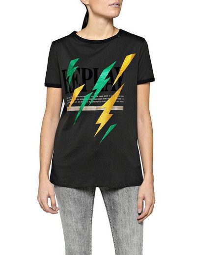 Replay T-Shirt im rockigen Design