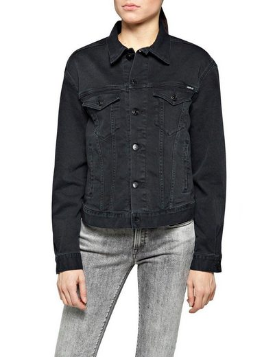 Replay Jeansjacke in modischer Used-Waschung