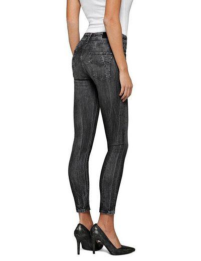 Replay Skinny-fit-Jeans »LUZ« in angesagter Used-Optik