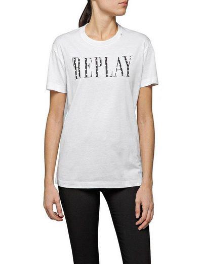 Replay T-Shirt mit markantem Logodruck