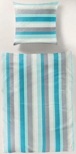 Bettwäsche »blue stripes«, BIERBAUM, mit modernen streifen