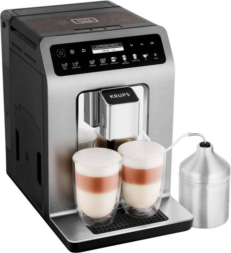 Krups Kaffeevollautomat EA894T Evidence Plus One-Touch-Cappuccino, Platzsparend mit vielen technischen Innovationen und Bedienungshighlights