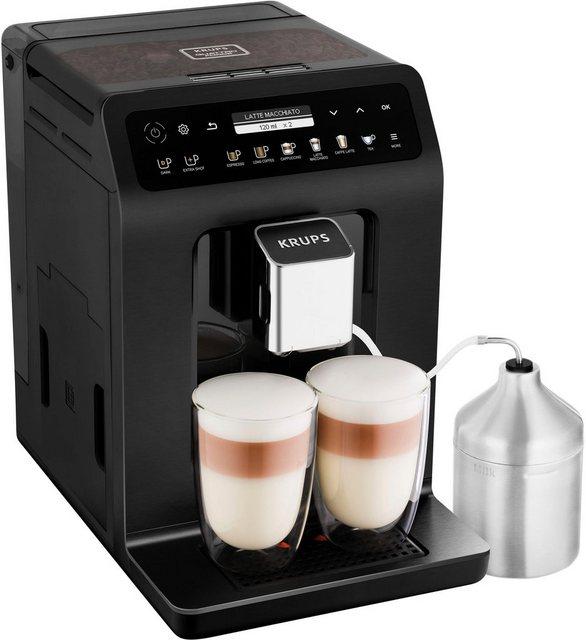 Krups Kaffeevollautomat EA8948 Evidence Plus One-Touch-Cappuccino, Platzsparend mit vielen technischen Innovationen und Bedienungshighlights
