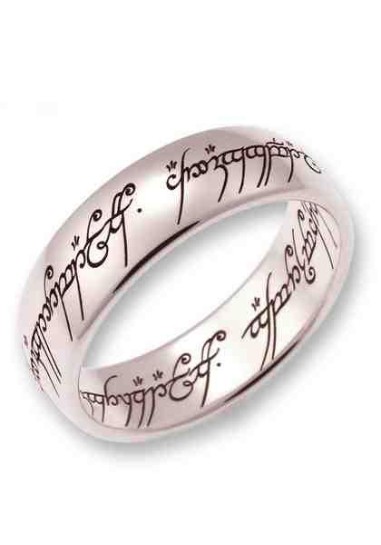 Der Herr der Ringe Goldring »Der Eine Ring - Weißgold, 10004083, 10004084, 10004085« Made in Germany