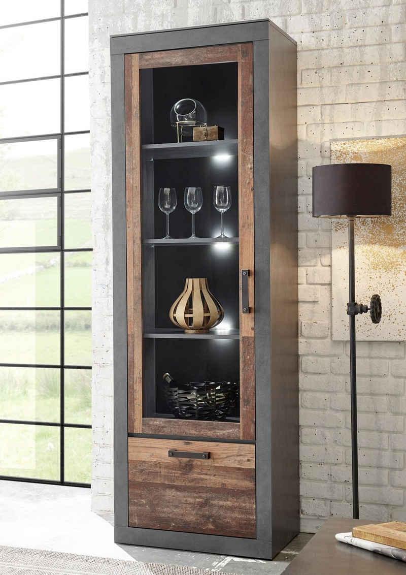 Home affaire Vitrine »BROOKLYN« in dekorativer Rahmenoptik