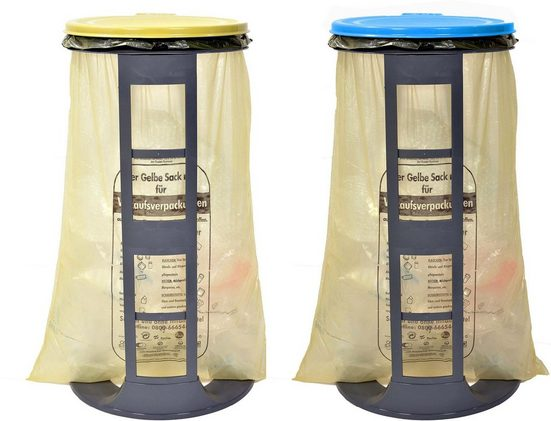 Gies Müllsackständer »ecoLine, 2er Set«, 100% Recycling