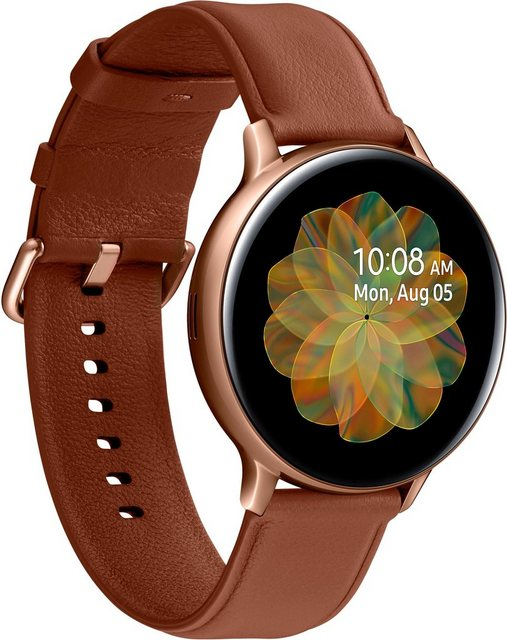 Smartwatches - Samsung Galaxy Watch Active2 Edelstahl, 44 mm, Bluetooth (SM R820) Smartwatch (3,4 cm 1,4 Zoll)  - Onlineshop OTTO