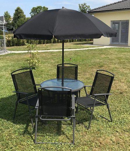 VCM 6-teiliges Gartenmöbel-Set