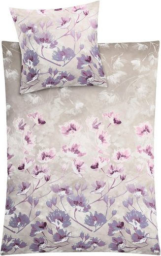 Bettwäsche »Flora«, Kleine Wolke, innovativer Motivmix