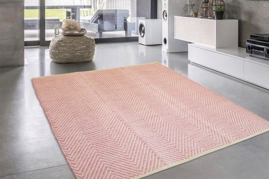 Teppich »Luba 500«  calo-deluxe  rechteckig  Höhe 7 mm  reine Baumwolle