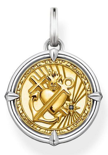 THOMAS SABO Kettenanhänger »Glaube, Liebe, Hoffnung, PE870-849-7«, mit Zirkonia