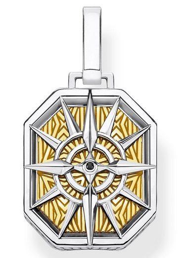 THOMAS SABO Kettenanhänger »Kompass gold, PE867-849-7«, mit Zirkonia