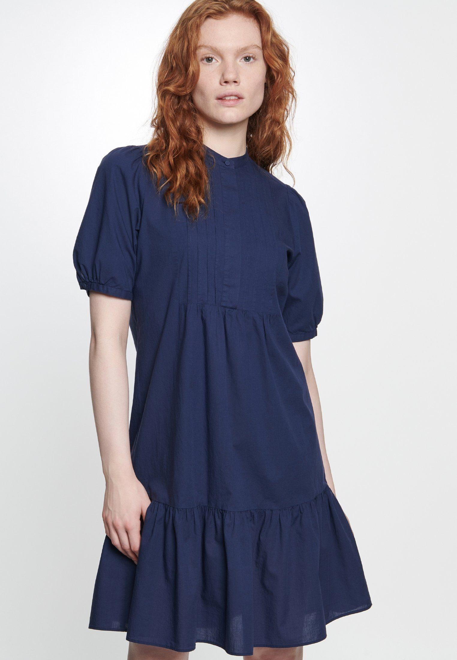 seidensticker Sommerkleid »Schwarze Rose« Kurzarm Kragen Uni, Passform: Regular fit online kaufen | OTTO