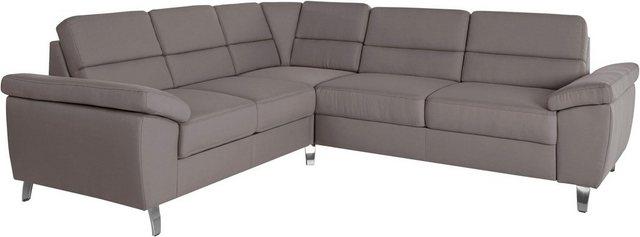 sit&more Ecksofa, wahlweise mit Bett- und Relaxfunktion, inkl. Bettkasten | Wohnzimmer > Sofas & Couches > Ecksofas & Eckcouches | Grau | sit&more