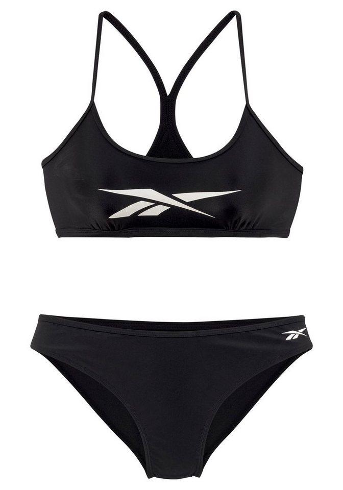 Bademode - Reebok Bustier Bikini mit Markenlogo am Top › schwarz  - Onlineshop OTTO