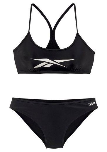 Reebok Bustier-Bikini mit Markenlogo am Top