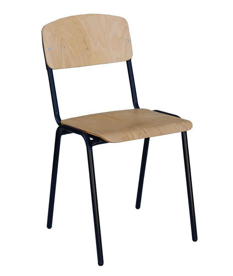 Lüllmann Besucherstuhl »Set - Besucherstuhl Stapelstuhl Konferenzstuhl Büromöbel stapelbar Buche« (Spar-Set, 10 Stück), sehr robust, langlebig, leicht zu reinigen, stapelbar