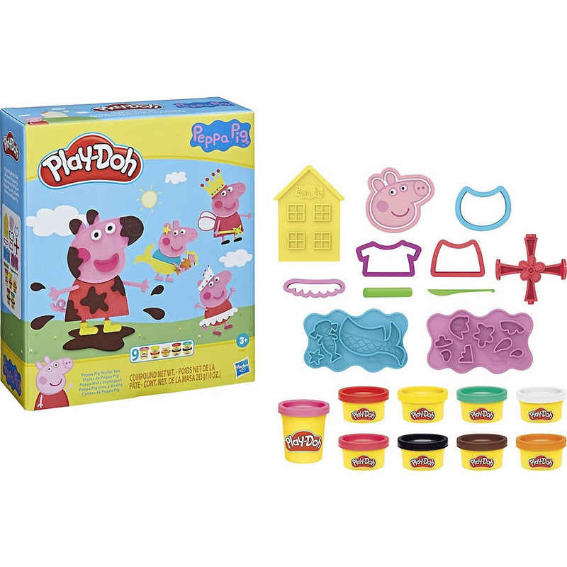 Hasbro Knete »Play-Doh Peppa Wutz Stylingset mit 9 Play-Doh«