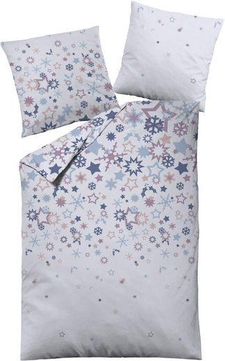 Bettwäsche »Sterne«, Dormisette, mit Schneeflocken und Sternmotiven