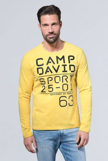 CAMP DAVID Langarmshirt mit Necktape