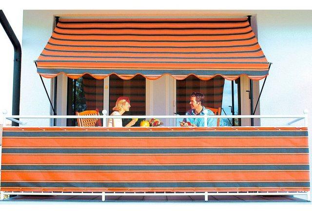 ANGERER FREIZEITMÖBEL Balkonsichtschutz Meterware, orange-braun, H: 90 cm   Garten > Balkon > Sichtschutz   Braun   Polyacryl   Angerer Freizeitmöbel