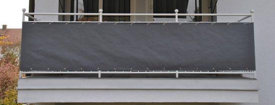 ANGERER FREIZEITMÖBEL Wind- und Sichtschutz Meterware, grau, H: 90 cm