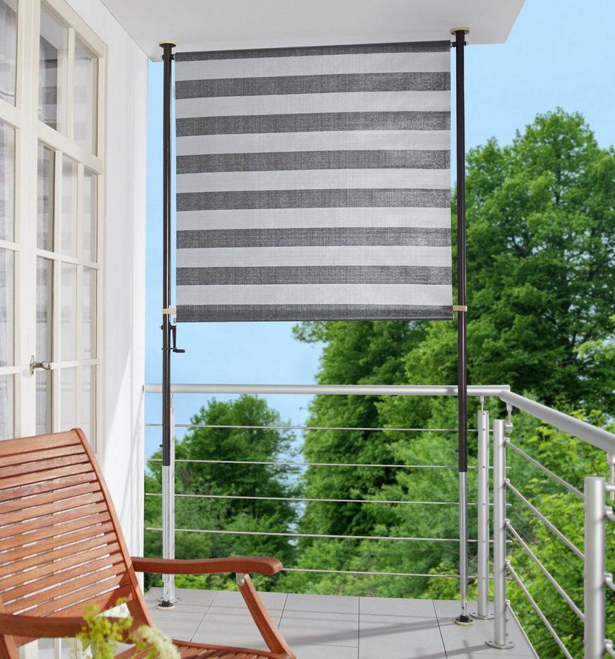 ANGERER FREIZEITMÖBEL Balkonsichtschutz anthrazit/grau, BxH: 150x225 cm | Garten > Balkon > Sichtschutz | Grau | Angerer Freizeitmöbel