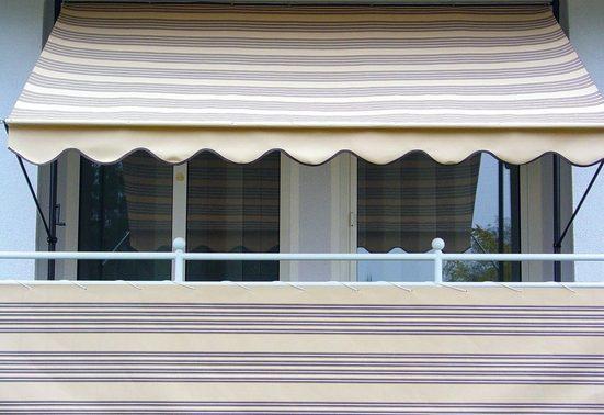 ANGERER FREIZEITMÖBEL Balkonsichtschutz Meterware, beige/braun, H: 90 cm