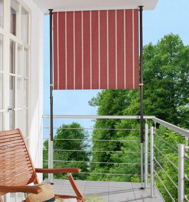 ANGERER FREIZEITMÖBEL Balkonsichtschutz weinrot/weiß, BxH: 150x225 cm