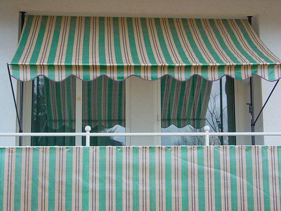 ANGERER FREIZEITMÖBEL Wind- und Sichtschutz »Nr. 1900«, Meterware, grün/beige/braun, H: 90 cm