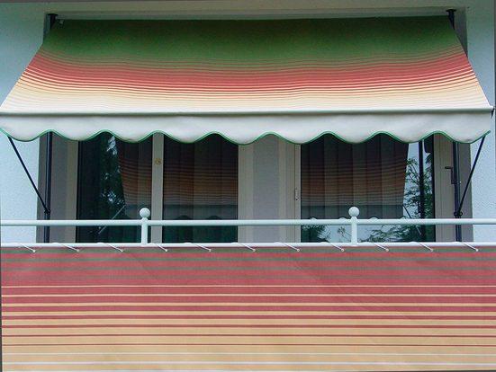 ANGERER FREIZEITMÖBEL Wind- und Sichtschutz »Nr. 1800«, Meterware, grün/rot/gelb, H: 75 cm