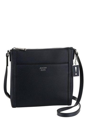 Joop Jeans Umhängetasche »ruvida sicile shoulderbag mvz«, mit Schmuckanhänger und silberfarbenen Logo-Print