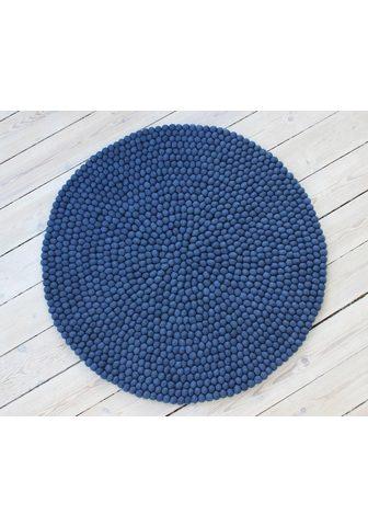 WOOLDOT Vilnonis kilimas »Uni Color« ovali auk...