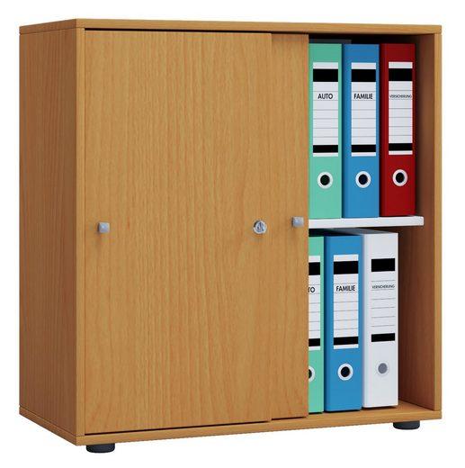 VCM Büroschrank Lona 2-fach mit Schiebetüren