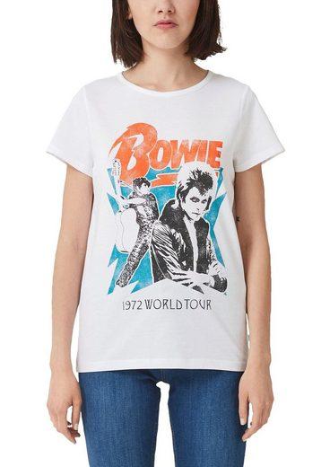 Q/S designed by T-Shirt mit Bowie Frontdruck