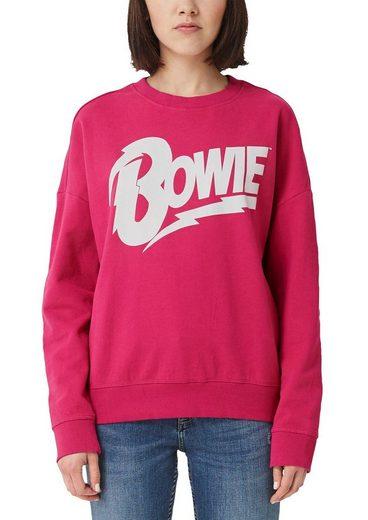 Q/S designed by Sweatshirt »Bowie Sweatshirt« mit Bowie Frontdruck