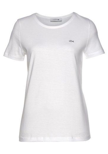Lacoste T-Shirt mit kleinem Lacoste-Logo auf der Brust