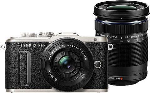 Systemkameras - Olympus »E PL8 EZ M1442 EZ M4015« Systemkamera (M.Zuiko Digital ED 40‑150mm F4‑5.6 R, M.Zuiko Digital ED 14‑42mm, 16,1 MP, 3,8x opt. Zoom, WLAN (Wi Fi)  - Onlineshop OTTO