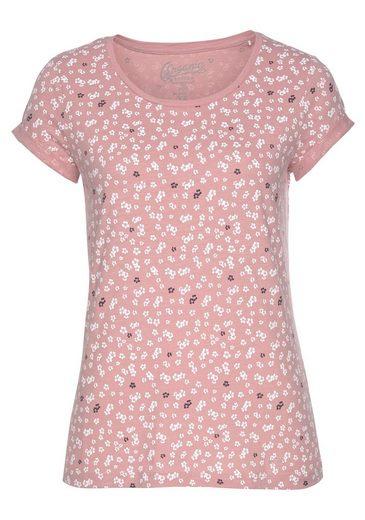 edc by Esprit T-Shirt mit unterschiedlichen Minimal-Alloverprints