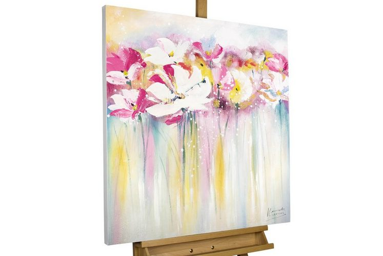 KUNSTLOFT Gemälde »Rose Scented Summertime«, handgemaltes Bild auf Leinwand