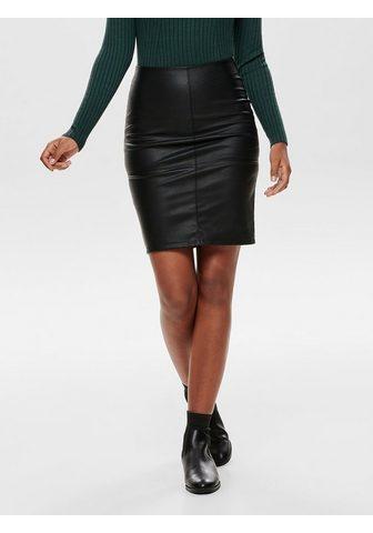 ONLY Искусственная кожа юбка средней длины