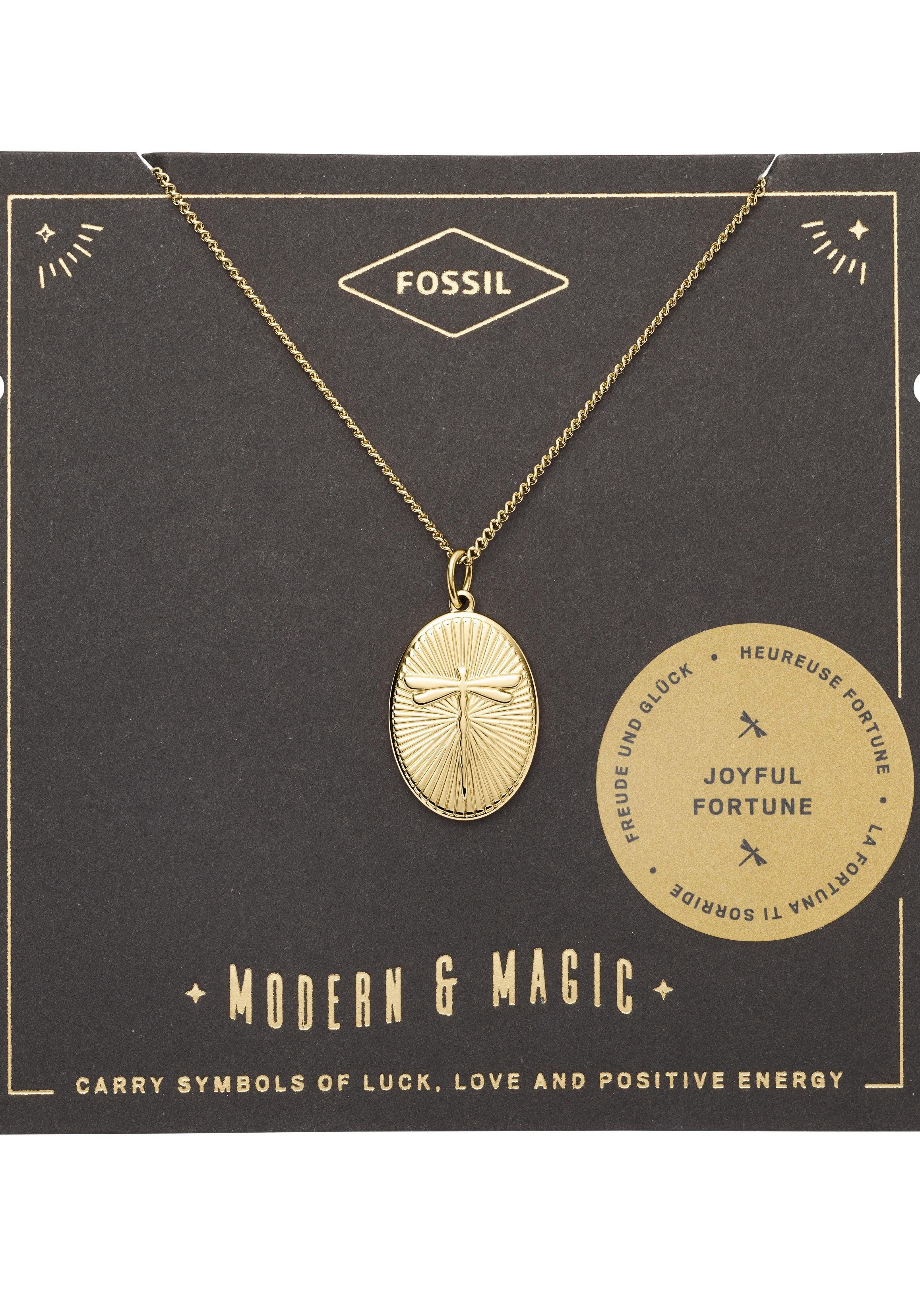 Fossil Kette mit Anhänger »Libelle, VINTAGE MOTIFS, JF03244710« online kaufen | OTTO