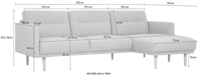 andas Polsterecke »Brande«, in skandinavischem Design | Wohnzimmer > Sofas & Couches > Ecksofas & Eckcouches | Rosa | andas