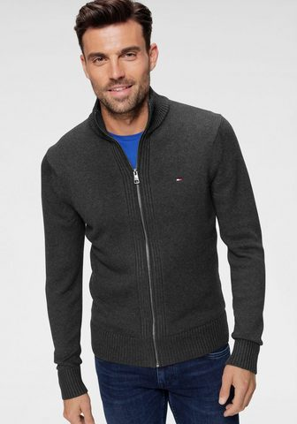 TOMMY HILFIGER Megztinis »CHUNKY COTTON ZIP THROUGH«