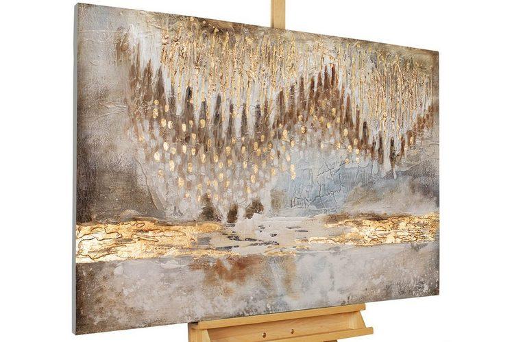 KUNSTLOFT Gemälde »Tropfsteinhöhle«, handgemaltes Bild auf Leinwand
