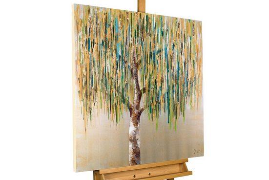 KUNSTLOFT Gemälde »Das Flüstern der Trauerweide«, handgemaltes Bild auf Leinwand