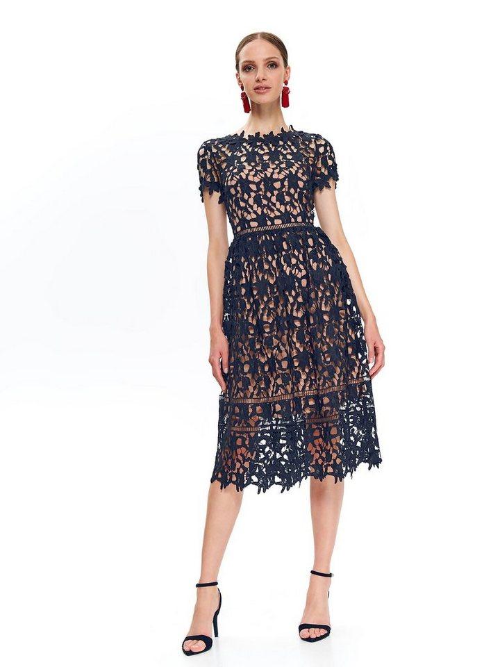 Festtagsmode - TOP SECRET Spitzen Kleid mit Futter › blau  - Onlineshop OTTO
