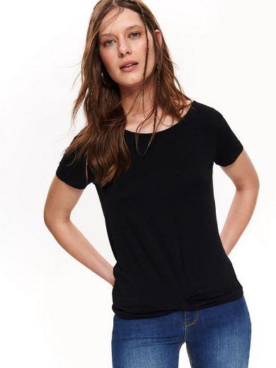 TOP SECRET T-Shirt mit Bindeband im Rücken